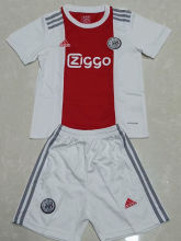 2021/22 Ajax Home Red White Kids Soccer Jersey