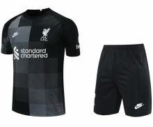 2021/22 LFC Black GK Soccer Jersey(A Set)(Pants Have Number)裤有号码