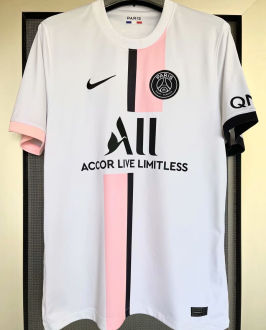 2021/22 PSG 1:1 Quality Away White Fans Soccer Jersey