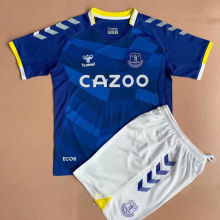 2021/22 Everton Home Blue  Kids Soccer Jersey