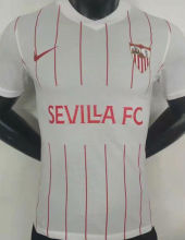 2021/22 Sevilla Home White Player Version Soccer Jersey