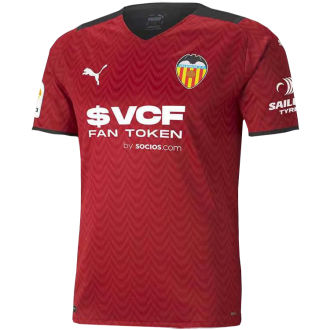 2021/22 Valencia Away Red Fans Soccer Jersey