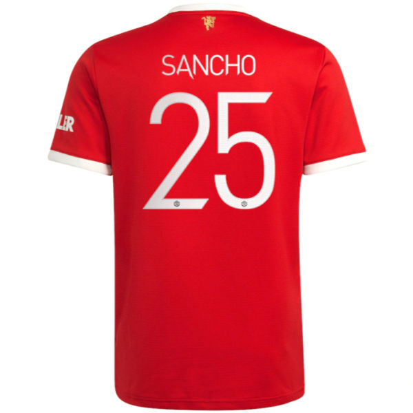 SANCHO #25 M Utd 1:1 Home Fans Jersey 2021/22(UCL Font 欧冠字体)