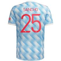 SANCHO #25 M Utd 1:1 Away Fans Jersey 2021/22(UCL Font 欧冠字体)