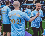2021/22 Man City 1:1 Quality Away White Fans Soccer Jersey