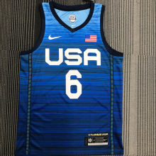 LILLARD # 6 Tokyo Olympic 2020 Dream Team Blue Jerseys Hot Pressed