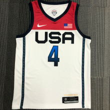 BEAL # 4 Tokyo Olympic 2020 Dream Team White Jerseys Hot Pressed