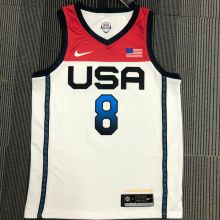 MIDDLETON # 8 Tokyo Olympic 2020 Dream Team White Jerseys Hot Pressed