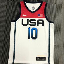 TATUM # 10 Tokyo Olympic 2020 Dream Team White Jerseys Hot Pressed