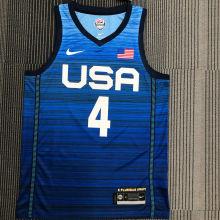 BEAL # 4 Tokyo Olympic 2020 Dream Team Blue Jerseys Hot Pressed