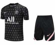 2021/22 PSG Black Short Training Jersey(A Set)拉链口袋