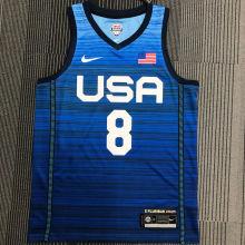 MIDDLETON # 8 Tokyo Olympic 2020 Dream Team Blue Jerseys Hot Pressed
