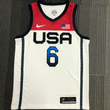 LILLARD # 6 Tokyo Olympic 2020 Dream Team White Jerseys Hot Pressed