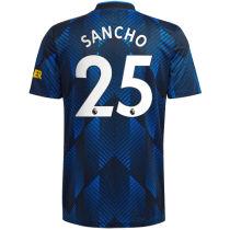 SANCHO #25 M Utd 1:1 Quality Third Fans Jersey 2021/22(League Font)