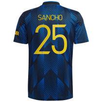 SANCHO #25 M Utd 1:1 Quality Third Fans Jersey 2021/22 UCL Font 欧冠字体)