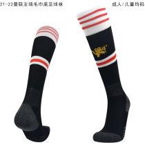 2021/22 Man Utd Home Black Sock