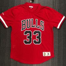 PIPPEN # 33 Bulls Red Mitchell Ness Retro Jerseys