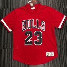 JORDAN # 23 Bulls Red Mitchell Ness Retro Jerseys