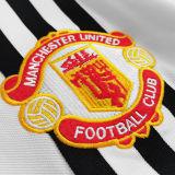 1975/1980 M Utd Away White Retro Soccer Jersey