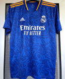 2021/22 RM Away 1:1 Quality Blue Fans Soccer Jersey