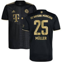 Müller #25 BFC 1:1 lack Fans Soccer Jersey 2021/22