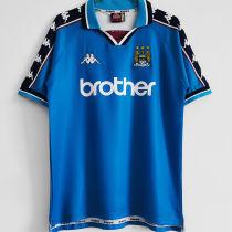 1997/99 Man City Home Blue Retro Soccer Jersey