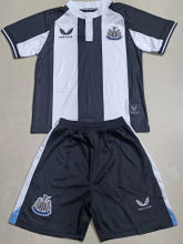 2021/22 Newcastle Home Black White Kids Soccer Jersey