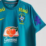 2021/22 Brazil Light Blue Training Soccer Jersey圆领