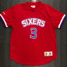 IVERSON # 3 76ers Red Mitchell Ness Retro Jerseys