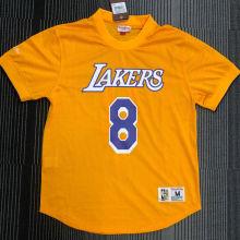 BRYANT # 8 Lakers Yellow Mitchell Ness Retro Jerseys