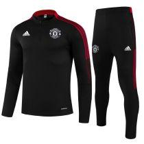 2021/22 M Utd Black Sweater Tracksuit