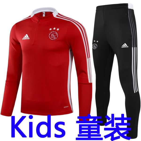 2021/22 AJAX Red Kids Sweater Tracksuit