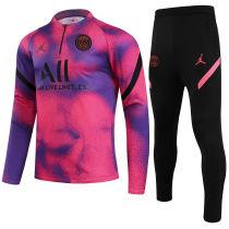 2021 PSG JD Pink Half Pull Sweater Tracksuit