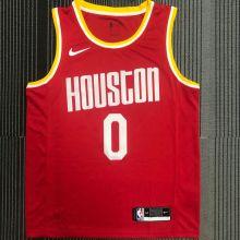 Rockets WESTBROOK # 0 Red NBA Jerseys Hot Pressed