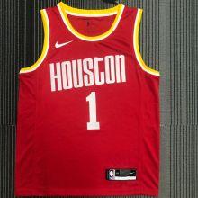 Rockets McGRADY #1 Red NBA Jerseys Hot Pressed