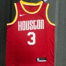 Rockets PAUL # 3 Red NBA Jerseys Hot Pressed