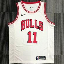 Bulls DeRozan #11 White NBA Jerseys Hot Pressed