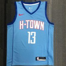 2021 Rockets HARDEN #13 Blue NBA Jerseys Hot Pressed