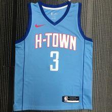 2021 Rockets PAUL #3 Blue NBA Jerseys Hot Pressed
