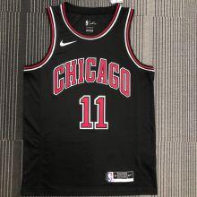 Bulls DeRozan #11 Black NBA Jerseys Hot Pressed