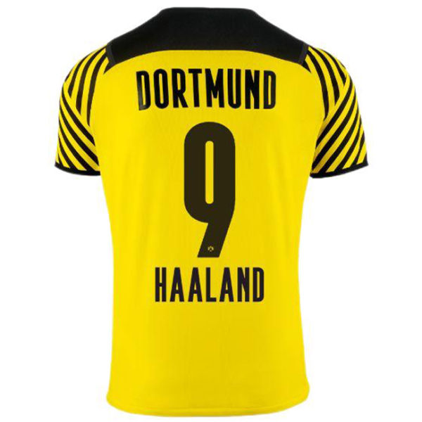 HAALAND #9 BVB Home 1:1 Quality Yellow Fans Jersey 2021/22