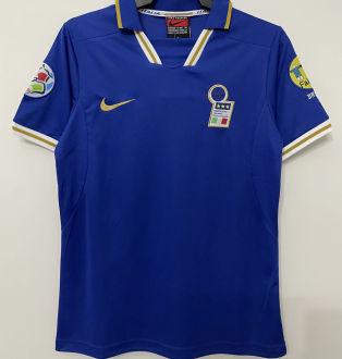 1996 Italy Home Blue Retro Soccer Jersey