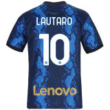 LAUTARO #10 In Milan 1:1 Quality Home Fans Jersey 2021/22