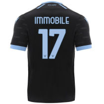 IMMOBILE #17 Lazio Third Black Fans Soccer Jersey2021/22
