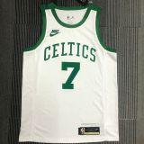 Celtics BROWN #7 White 75 Years NBA Jerseys Hot Pressed