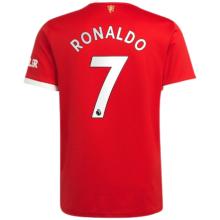 RONALDO #7 M Utd 1:1 Home Fans Jersey 2021/22(League Font)