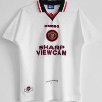 1996/97 M Utd Away White Retro Soccer Jersey