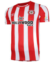 2021/22 Brentford Home Red White Fans Soccer Jersey
