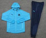 2021/22 MS Blue Hoody Zipper Jacket Tracksuit背后有Logo