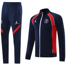 2021/22 PSG Royal Blue Jacket Tracksuit背后有Logo